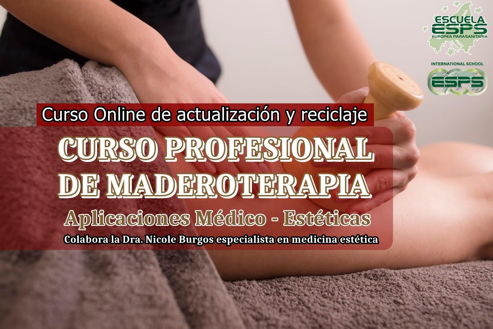 Curso de maderoterapia profesional medico - estética